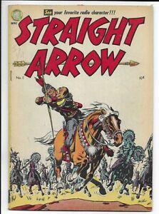 Straight Arrow #1 1950 ME Golden Age Western Comic Book VG/Fine