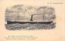 Cartolina Navi SS COMANCHE Clyde Nave a vapore co