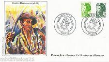 1982 - ENVELOPPE-FDC 1°JOUR!!-LIBERTE - EUGENE DELACROIX - Yt. 2178/88