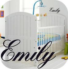 BABY GIRL PERSONALISED NURSERY ROOM  WALL STICKER GIRLS - KIDS - BEDROOM OR COT