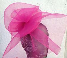 pink fascinator millinery burlesque wedding hat hair piece ascot race bridal