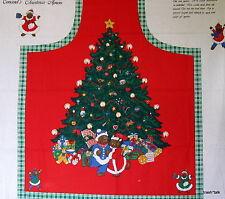 Joan Kessler Concord Fabric panel Christmas Tree Teddy bear bib APRON
