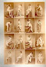 C12 Calavas photo étude pour peintre vintage albumen print albuminé nus Femme