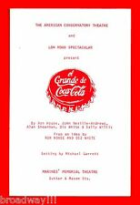 "Ron House ""EL GRANDE DE COCA-COLA"" Diz White 1976 San Francisco Playbill"