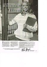 PUBLICITE ADVERTISING  1981   PIER AUGE   cosmétiques  LA LIGNE JEUNESSE