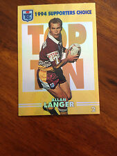 NSW Rugby League 1994 Series 2 - Supporters Choice - Allan Langer Card 2 of 10