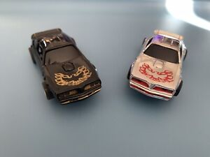 TYCO/ Aurora FX Set Of 2 Trans Am Slot Cars With Lights
