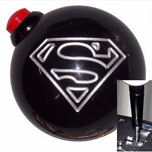 Black Superman Side Button 12V shift knob  Auto stk w/ Blk Adapter