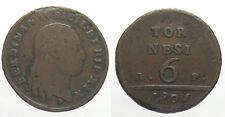 *TRIU* NAPOLI Ferdinando IV 6 TORNESI 1801 RARO
