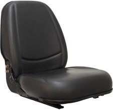 HIGH BACK BLACK SEAT FOR FORKLIFT, SKID LOADER, BACKHOE, DOZER,TELEHANDLER #WL