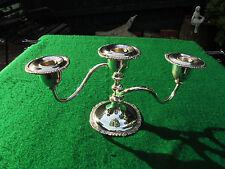 VINTAGE CANADIAN SILVER PLATE CANDELABRA CANDLE STICK HOLDER