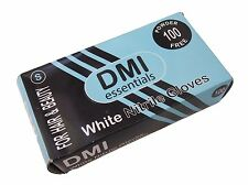 100 White Nitrile Protective Gloves - Large - Salon Hair & Beauty