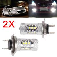 2 X H7 Lamp Holder LED Headlight Bulbs Lamp High Low Beam Dipped Beam