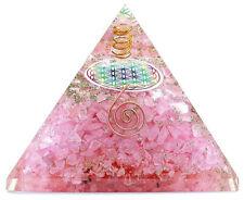 Orgonit Pyramide - Rosenquarz Blume des Lebens  programmiert nach Agnihotra 446
