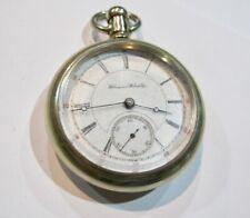 1886 Hampden pocket watch Dueber 969179, 17J, runs