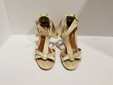 Aldo Womens Bege/ Cream Leather Slingback Sandals Size 40/9 M