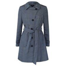 NUOVO M&S DONNA grigio principe di Galles TRINCEA MAC Cappotto Di Pioggia Taglia 20