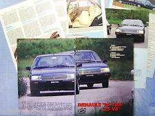 QUATTROR984-PROVA SU STRADA/ROAD TEST-1984- RENAULT 25 TDX e V6 -6 fogli