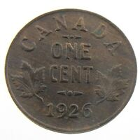 1926 Canada One 1 Cent Penny Copper Canadian Circulated George V Coin P952