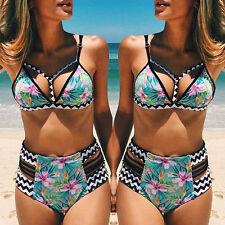 Womens Tropical Twist Print Bikini Set Beach Wear Swimwear swimsuit