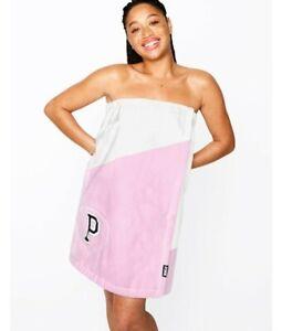 Victoria Secret PINK Wrap Towel Monogram Pocket NEW NWT!
