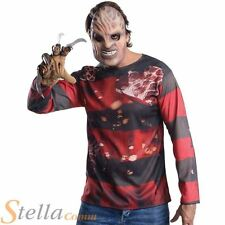 Mens Freddy Krueger Costume Kit Halloween Nightmare On Elm Street Fancy Dress
