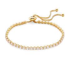 Gold CZ Tennis Bracelet