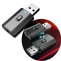 USB Bluetooth V5.0 émetteur récepteur Audio stéréo adaptateur AUX 3.5mm voit