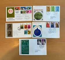 UK GREAT BRITAIN BRITISH EUROPE COLLECTION 10 FDC  COVERS scans  LOT (POSHI 58)