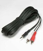 25ft 3.5mm Aux Stereo Male to 2-RCA Male M/2xRCA-M Audio Cable Cord MP3