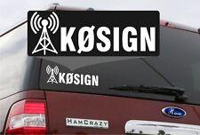 Ham Radio Callsign Antenna Window Decal -Die Cut- Amateur Radio