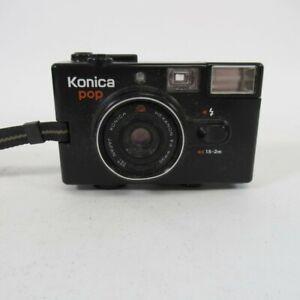 Konica Pop Film Camera w/ Konica Hexanon f4 36mm Lens Vintage Set Untested Lot5