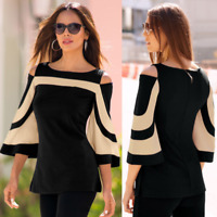 Womens Long Sleeve Slim Cotton Blouse Casual Shirt Summer Tops T-Shirt Vest