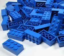 LEGO BRICKS 100 x BLUE 2x4 Pin - From Brand New Sets Sent in a Clear Sealed Bag