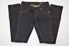 Express Stella Skinny Leg Zipper Pocket Womens Dark Denim Blue Jeans Size 4