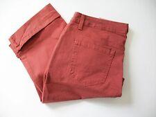 Style&Co.Womens Curvy Fit Cuffed Capri Jeans Terracotta Sz 16 - NWT