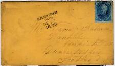USA: 1875 cover to Kirkintilloch with GLASGOW PACKET PAID mark (C29363)