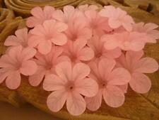 20 pce Large Frosted Acrylic  Pink Hibiscus Flower Beads 33mm