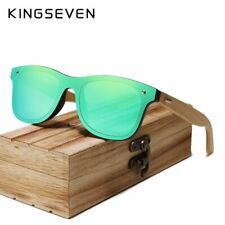 KINGSEVEN Polarized Bamboo Sunglasses Men Fashion UV400 Sun Glasses Wood Eyewear