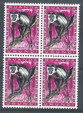 Ruanda Urundi 1959 Sc# 139 Colobus monkey block 4 MNH