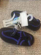 Blue Black Beach Shoes Water Shoes Large 9/10 Kids New