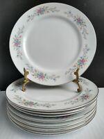 """Vintage Florenteen Florentine Fantasia 10 3/8"""" Dinner Plate Set 8"""
