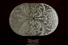 12 inch oval aluminum air filter hand engraved and chrome