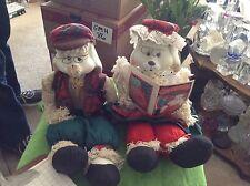 House of Lloyds Christmas grandpa Lloyd and granny Flo bunny dolls