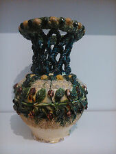 Vase Ceramic, Realised in Olivenza Craft Spanish Performed a Hand