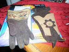 Vintage Child's Glove and Leather Holster