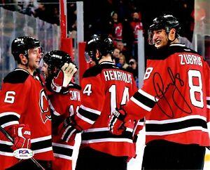Dainius Zubrus autographed signed 8x10 photo NHL New Jersey Devils PSA COA