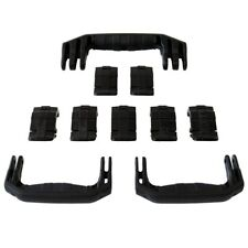 New Pelican Black 1650 replacement latches (7) & handles (3) - kits.