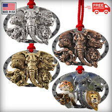 African Animals Christmas Ornament Elephant Lion Buffalo Rhino Cheetah M120OR