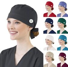 Surgical Scrub Chemo Catering Hat Cap Unisex. Navy Blue.